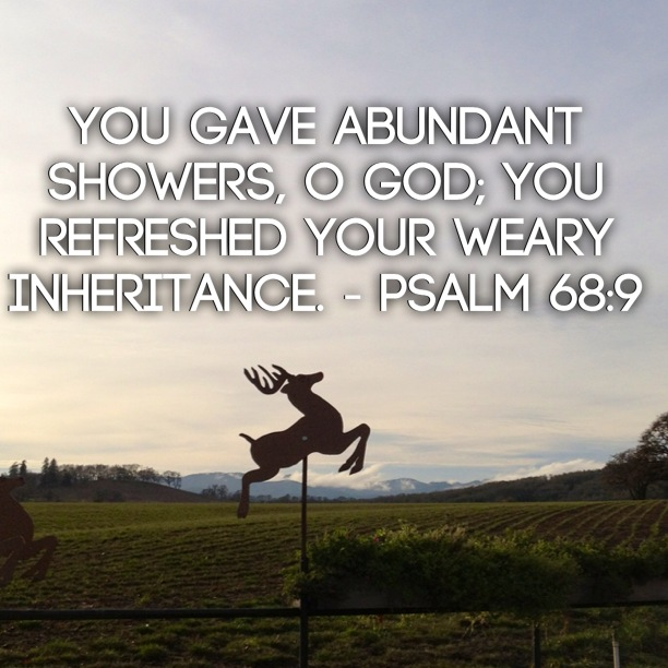 Psalm 68:9