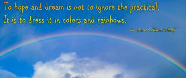 Rainbow with Quote