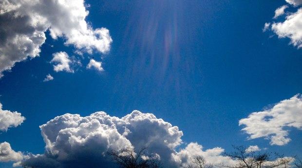 Clouds, blue sky