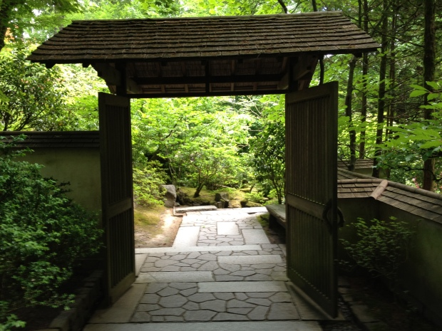 Threshold at the Japanese Gardens, Portland, OR.